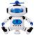 Baile eléctrico robot smart toys espacio para caminar los niños niños luz de la música del juguete del cabrito