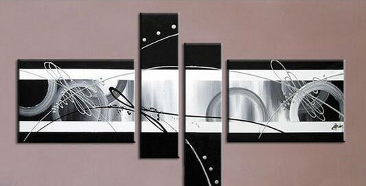 Hand Gemalt Einfachen Schwarz Weiß Ölgemälde Abstrakte Moderne Kunst  Wohnzimmer Decor Bild Für Sofa Hintergrund 4