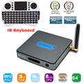 S912 BB2 Pro 3 GB 16 GB Amlogic Octa núcleo Android 6.0 Jellybean TV BOX WiFi Bluetooth 4.0 HDMI 4 K 2 K 1000 M LAN Android TV BOX