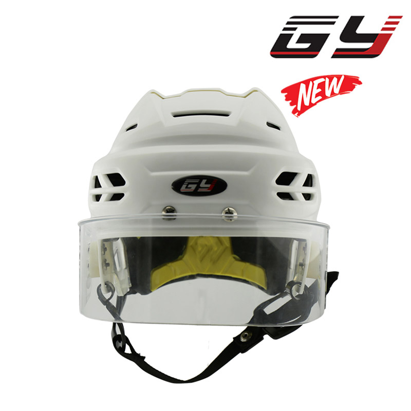 Professional Protective Gear CE HECC CSA Approved Ice Hockey Player Helmet with Anti-fog Anti-scratch Hockey Visor Free Shipping free shipping high quality pp eva foam ice hockey helmet with black wire cage face mask