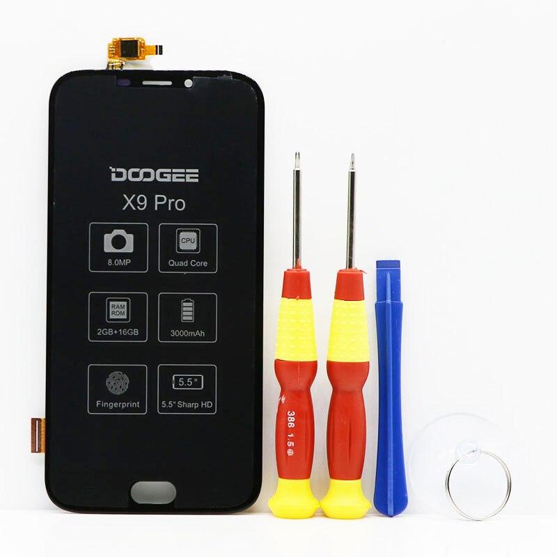 Nuovo Schermo di Tocco originale Schermo LCD a cristalli liquidi Per DOOGEE X9 Pro X9pro Parti di Ricambio + Strumento di Smontare + 3 m Adesivo