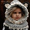 ДЕТСКИЕ hat прекрасный лиса шерсти шапки ручной шерсти шеи мантии лиса серый сиамские биб hat fox orange сиамские биб hat три цвета
