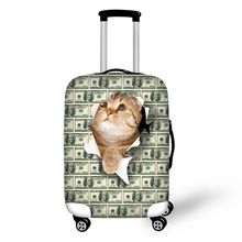 Money animal travel accessories suitcase protective covers 18-30 inch elastic luggage dust cover case stretchable bag
