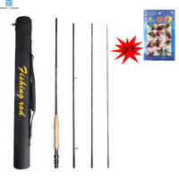 EASY CATCH 3/4/5/6WT Fly fishing Rod 4Pieces Medium fast IM8 Graphite Fly Rod for fishing