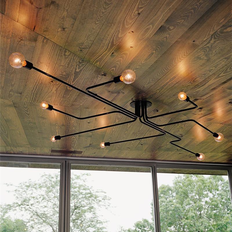 KINLAMS Deckenleuchten Vintage Lampen Fr Wohnzimmer Deckenleuchte Schmiedeeisen Luminaria E27 Birne Hause LeuchtenChina