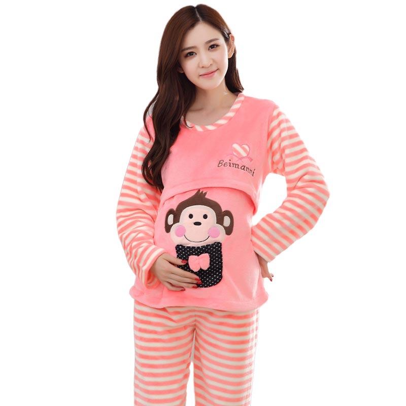 Popular Winter Nursing Pajamas-Buy Cheap Winter Nursing Pajamas ...