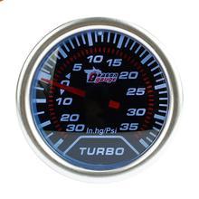 2 дюйма/52 мм 12 В Универсальный Автомобильный манометр комплект белый светодиодный 35 PSI Turbo Boost манометр Вакуумный метр Автомобильные аксессуары