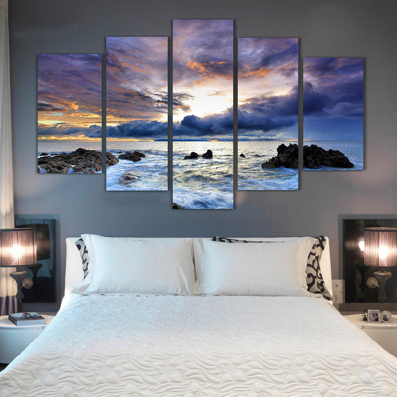 5 komada uokvireno Zidna umjetnička slika Poklon uređenje doma - Kućni dekor - Foto 1