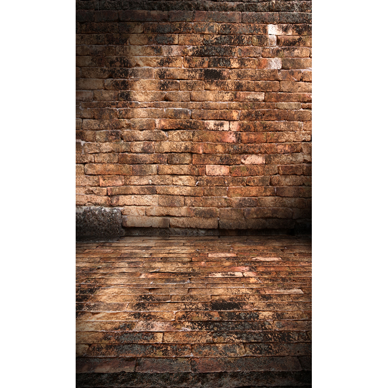 Vinyl print grunge old brick wall with floor photography backdrops for model photo studio portrait or party backgrounds F-1577 shengyongbao 300cm 200cm vinyl custom photography backdrops brick wall theme photo studio props photography background brw 12