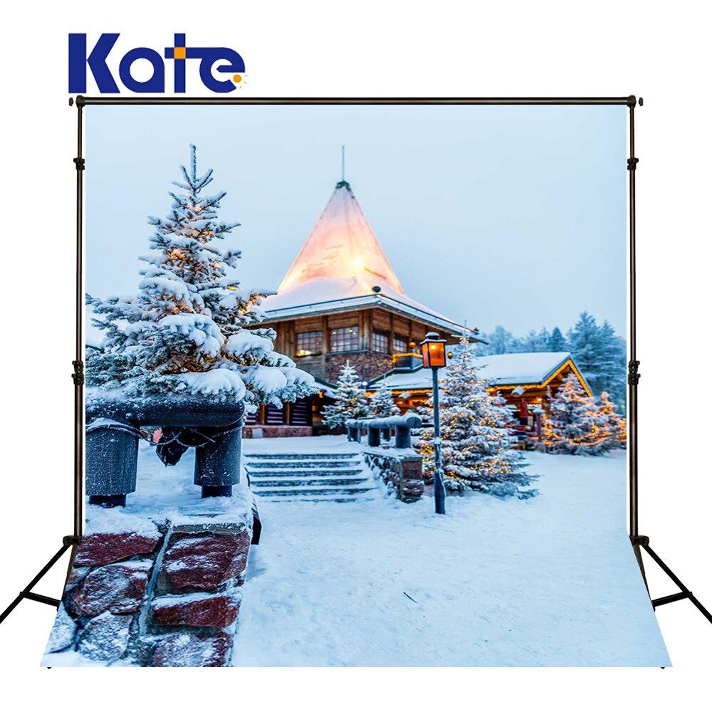 KATE Photography Backdrops Christmas Photo Backdrop Christmas Village Houses Backdrop Winter Snow Backdrops for Photo Studio