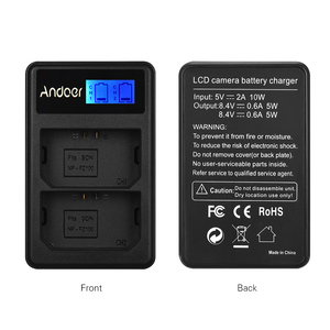 Image 4 - Andoer LCD2 FZ100 LCD Display Dual Channel Camera Battery Charger for Sony NP FZ100 a9 a7RIII a7III Camera Battery Charger