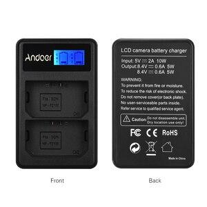 Image 4 - Cargador de batería con pantalla LCD y canal Dual LCD2 FZ100 para cámara Sony NP FZ100 a9 a7RIII a7III de Andoer, cargador de batería para cámara