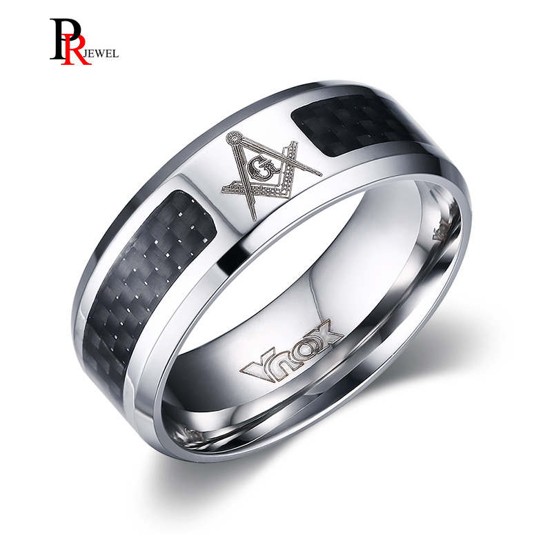 Full Logo College Jewelry Slippery Rock The Rock Ring Ring Narrow Style 4MM Wide Band