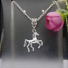 2015 Hot Sell Vintage Silver Lovely Horse Charm Pendants Necklace DIY Fashion Jewelry Findings Accessories For Woman 10PCS F872