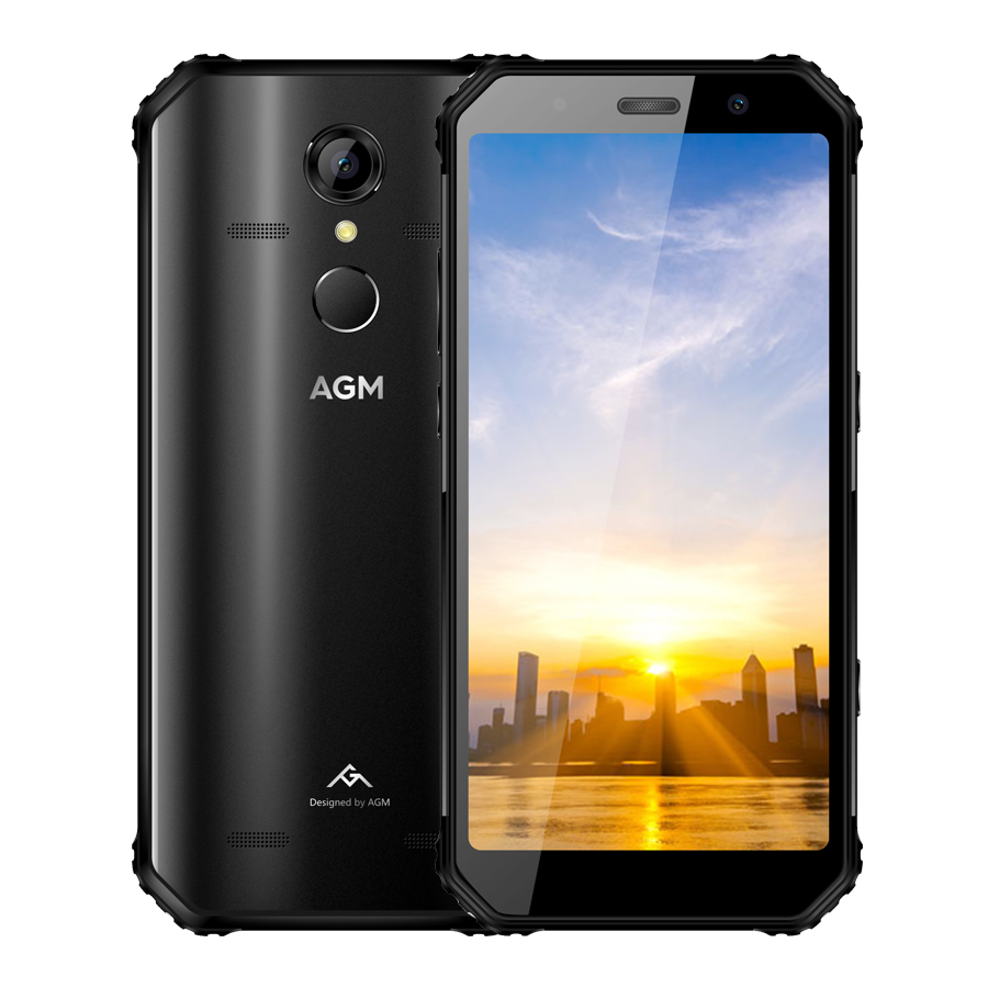 AGM A9 IP68 Étanche Mobile Téléphone 5.99 HD 4 GB RAM 64 GB ROM Qualcomm SDM450 Octa-core 5400 mAh Type D'empreintes Digitales-C