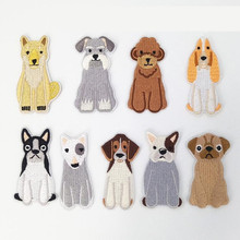 Many Animal Lovely Dog Repair Badge Patch Embroidered Patches For Clothing Iron On Close Shoes Bags Badges Embroidery DIY