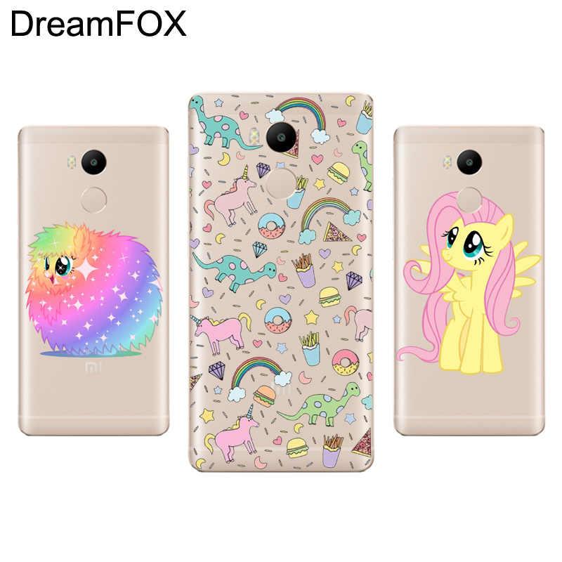 DREAMFOX L078 пони всех цветов радуги облака силиконовый чехол-накладка из мягкого ТПУ чехол для Xiaomi Redmi Note 3 4 5 плюс 3 S 4A 4X 5A Pro Global