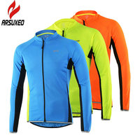 ARSUXEO Cycling Jersey Long Sleeve Sportswear Breathable Quick Dry Sun Protection Mountain Bike Bicycle Clothing Shirts Wear