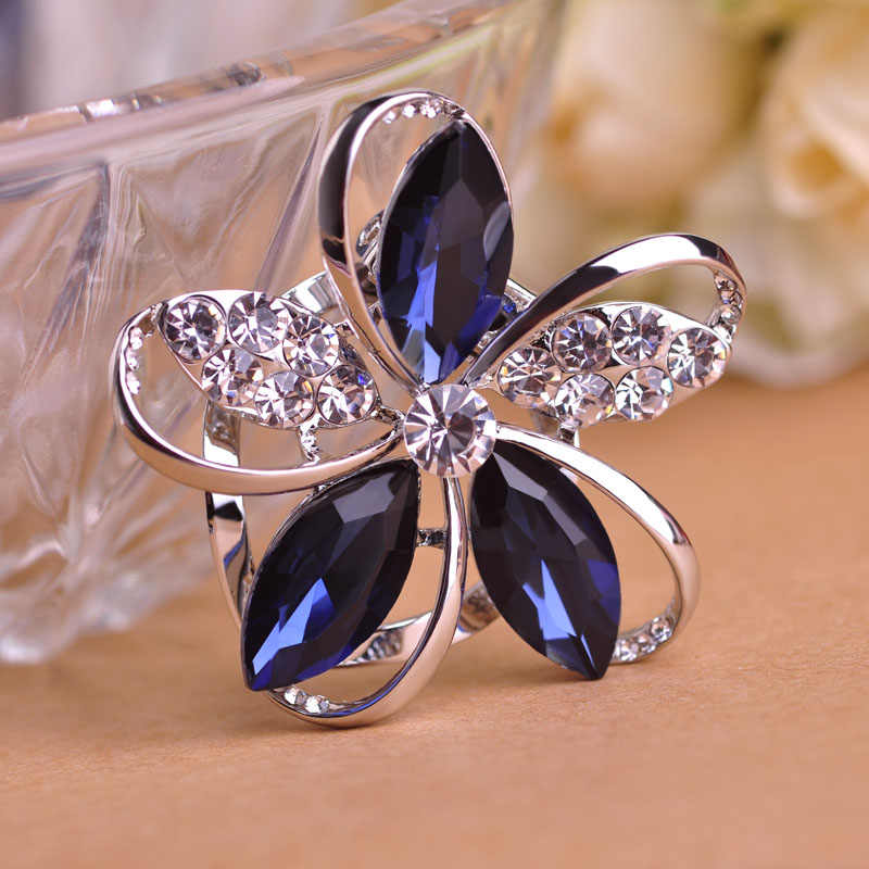 5c9c6ccdb Blucome Wholesale 55% Off Gorgeous Purple Crystal Flower Shape Brooches For  Women Scarf Buckles Sweater