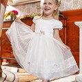 Проворные Девушка Кружевном Платье Длиной До Колен Дети Лето Ткань Цветок Принцессы Свадебное Платье Бальное платье Полиэстер