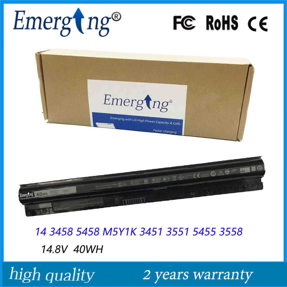 4Cells 14.8V 40Wh New Korea cell Laptop Battery for Dell Inspiron15 3552 3558 5559 5552 M5Y1K цена и фото