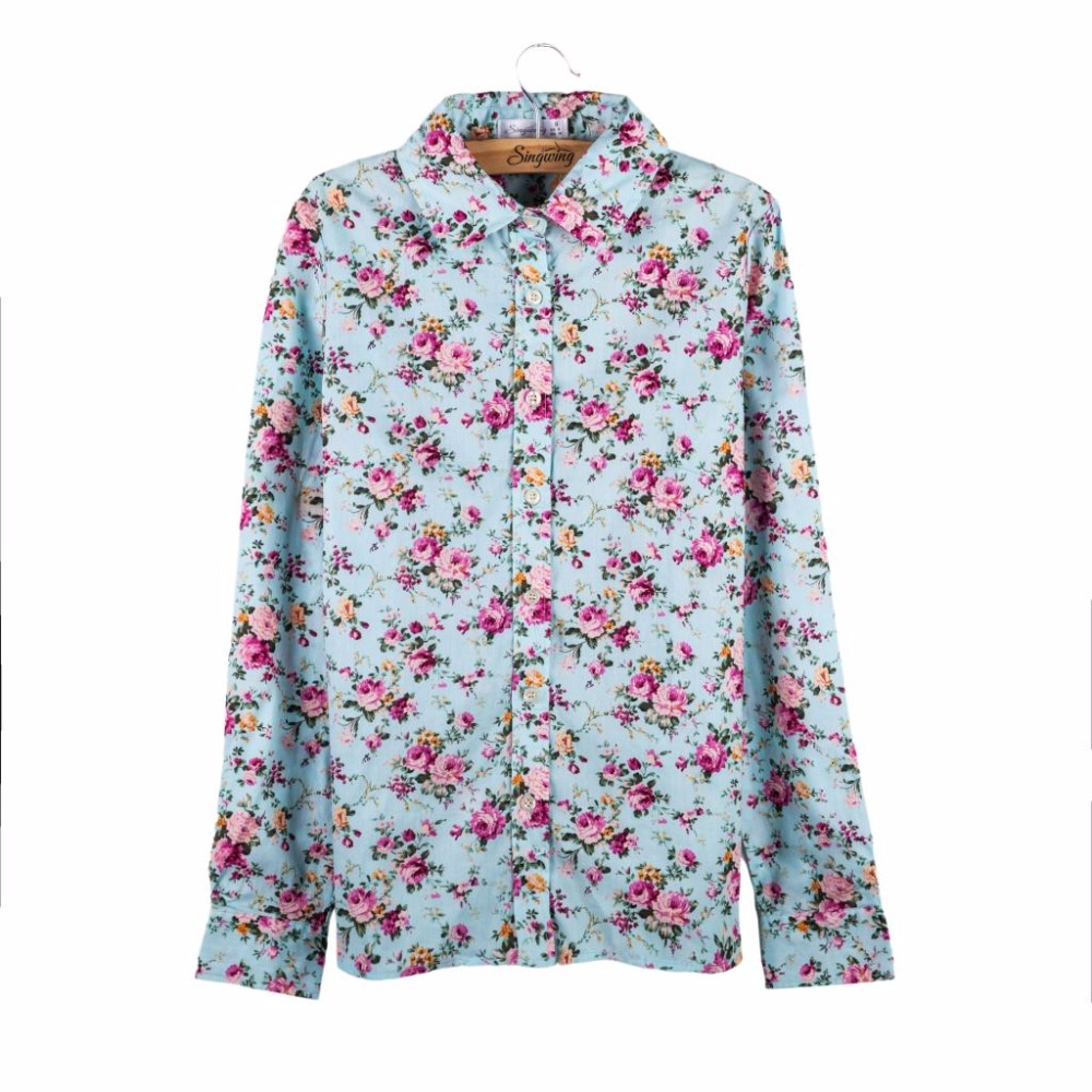 Buy women cotton floral t shirts long for Long sleeve t shirts design