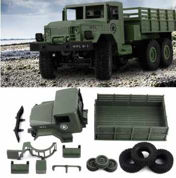 WPL B-16 B16 מחוץ לכביש RC צבאי משאית WPL שדרוג ערכת DIY 1:16 RC רכב באגי RC WPL מפלצת משאית 6WD 6 גלגל להרכיב סורק