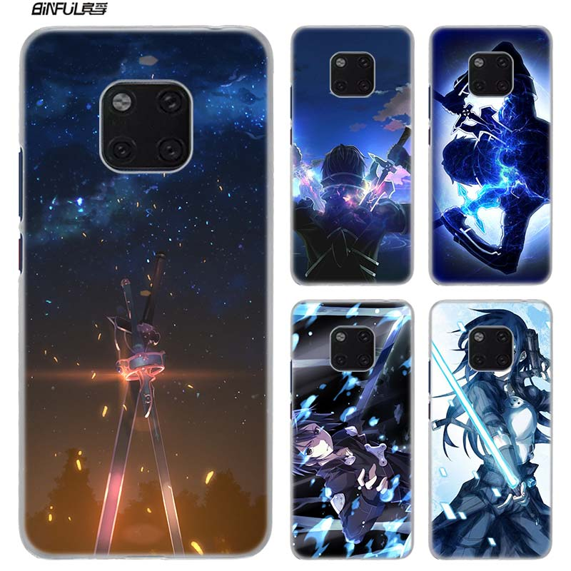 Phone Bags & Cases Dedicated Sword Art Online Sao Manga Hard Plastic Phone Case For Huawei Mate 20 10 Lite Pro 20lite 20pro 10lite 10pro Clear Cover Coque