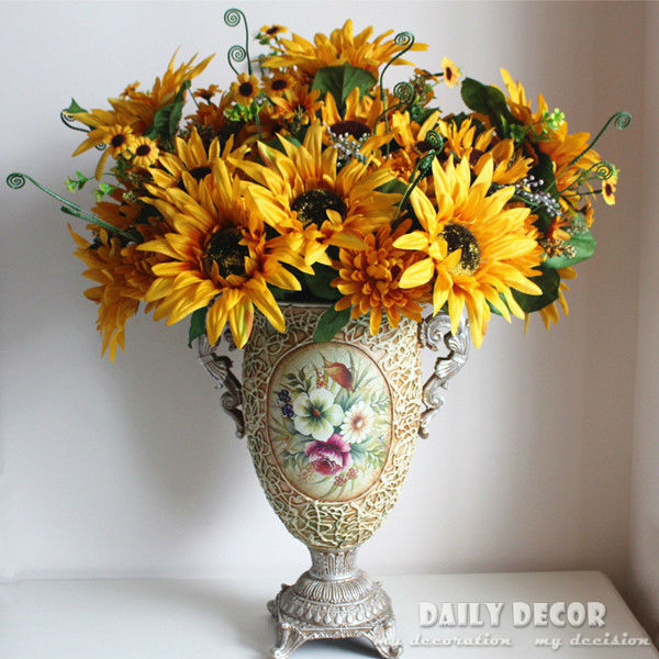large 1 bouquet 13 forks oil painting artificial sunflower silk large 1 bouquet 13 forks oil painting artificial sunflower silk flower 100 high quality vintage simulation dahlia decoration mightylinksfo