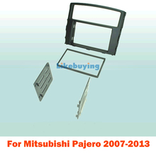 2 Din carro fascia Panel Frame / Car Fascia Panel / Audio Panel Frame / Dash Kit For Mitsubishi Pajero 2007-2013 Free Shipping