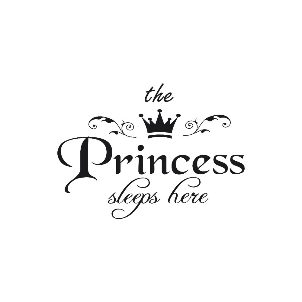 Removable Wall Sticker The Princess Sleeps Here Crown