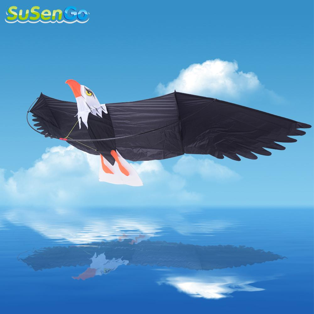 SuSenGo 3D Eagle Kites Outdoor Fun Sports Desert Birds Toy Albatross Surfing Power Easy Control Flying