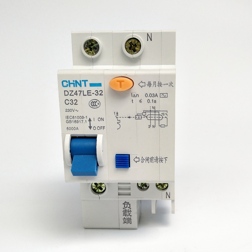 цена на CHINT DZ47LE-32 1P+N C32A 30mA Earth Leakage Circuit Breaker/Residual Current Operated Circuit Breaker
