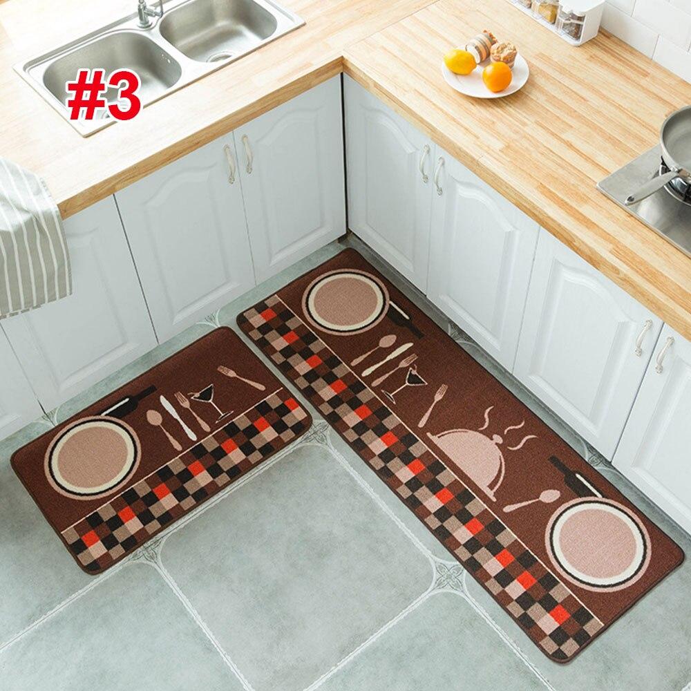 2 шт. 1 комплект ковер из полиэстера Нескользящая кухня спальня удобный мягкий мультфильм Tapete дверные стулья гостиная напольный коврик