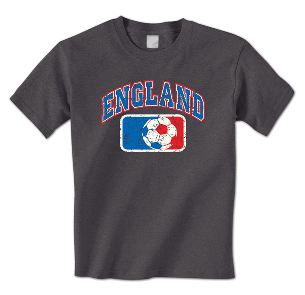 man t shirt England soccers Ball League Banner English Flag Colors ...