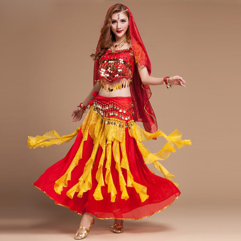Sexy India Egypt Belly Dance Performance Wear Womens Belly -3934