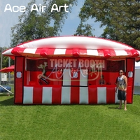 2018 Inflatable ticket booth,treat shop,stall promotional tent/concession booth for games