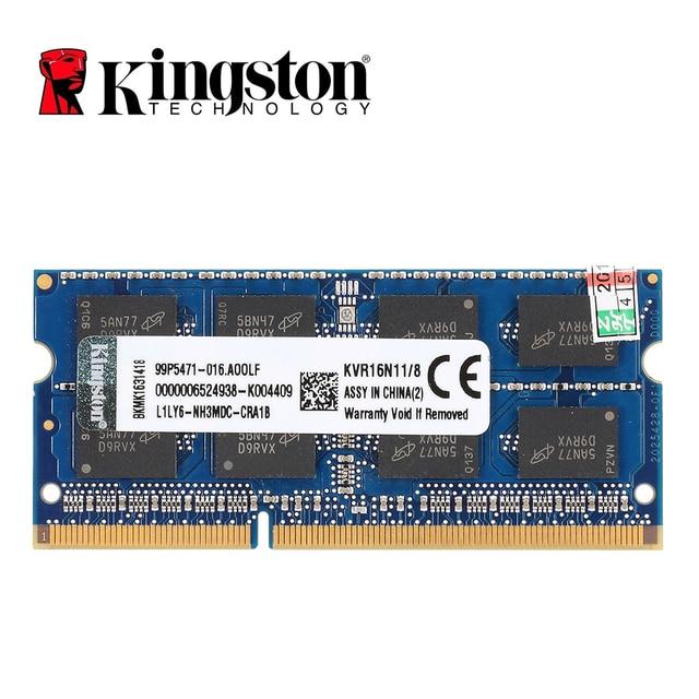Оперативная память Kingston DDR3 8 Гб PC3 12800S DDR3 1600 МГц DDR3 8 Гб CL11 204pin 1,5 в, память для ноутбука, ОЗУ SODIMM