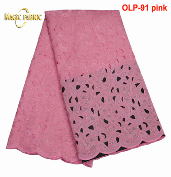 Light Purple Free Shipping High Quality African Double Organza Lace Embroidery French Lace Organza Fabric For Party  OLP-91