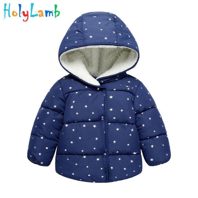 10c10b99e Caliente Otoño Invierno niñas abrigos niños abrigos de algodón acolchado  ropa de cinco puntas estrella capa