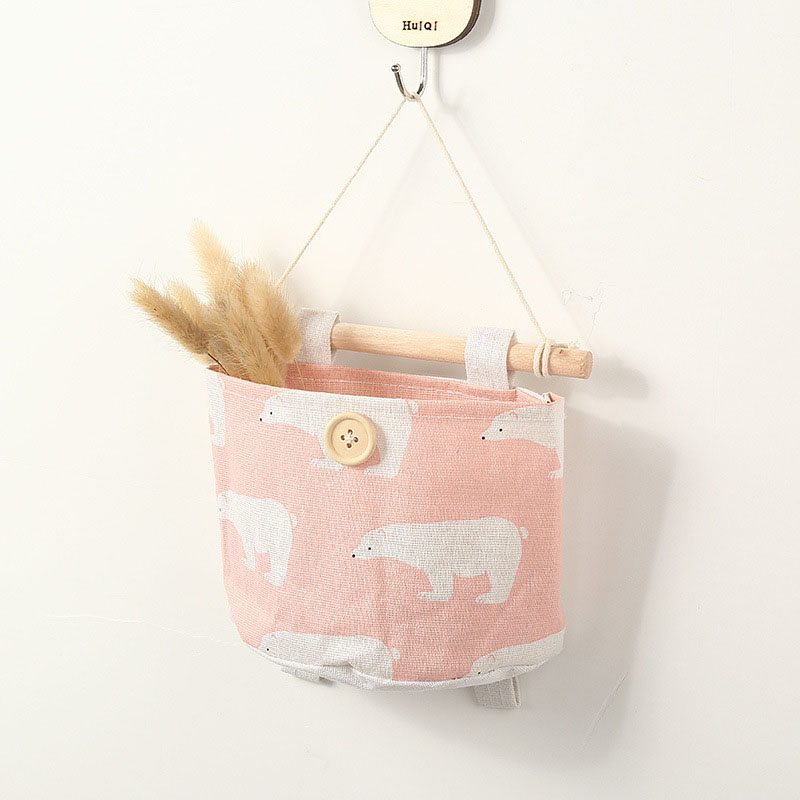 Image 2 - 2019 NEW Organizador Foldable Hang Wall Bathroom Makeup Organizer Storage Rear Hanging Cartoon Sorting Bag Household Items-in Hanging Organizers from Home & Garden