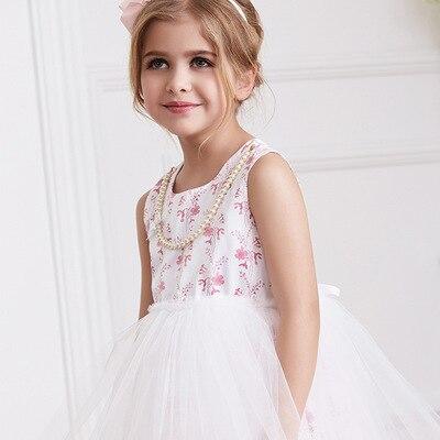 Yeskoala 2016 new girls summer clothes  mini cotton cute flowers princess dress free shipping