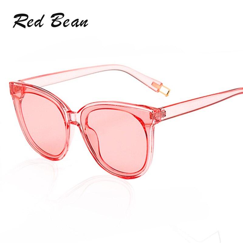 2018 New Transparent Sunglasses Woman Cateye Eyewear Candy Color Film Fashion Korea Brand Designer Men Women Sunglasses