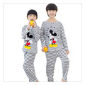 Cartoon mouse Girls Kids Pajama Sets Long Sleeve Sleepwear Boys Nightwear Girls Christmas Pajamas Baby Boys Pyjamas Kid