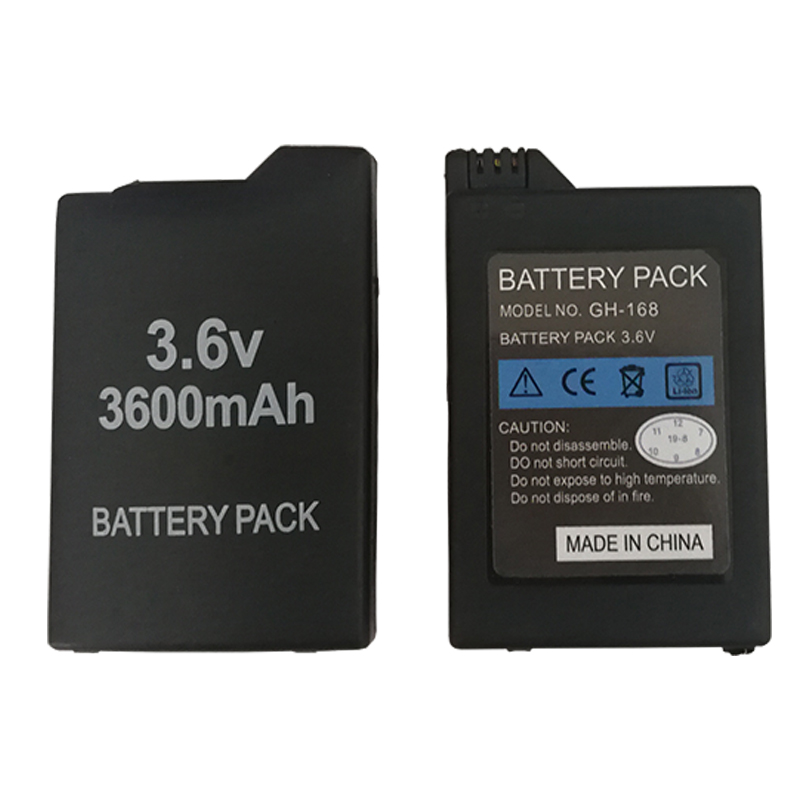 3 6V 3600mAh Lithium Rechargeable Battery For Sony PSP 1000 PlayStation Portable PSP1000 Console Replacement Batteries