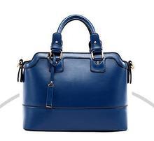 Genuine cowhide leather handbag women's trend handbag cross-body women's handbag vintage work bag