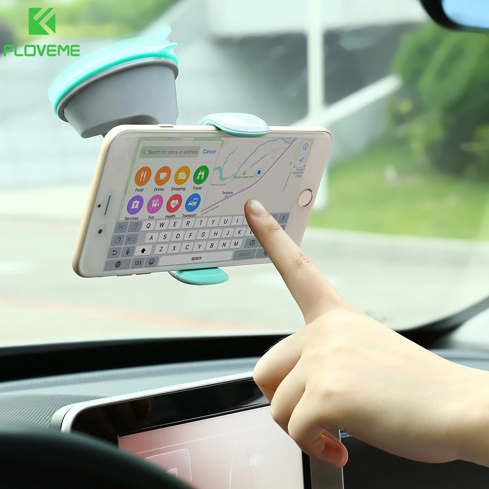 FLOVEME Universal Car Phone Holder 360 Degree Rotation Air Vent Mount Car Holder Styling Mobile Phone Stand Support For iPhone
