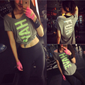 New Style yoga Gym Compression Loose Women's Sport Dry Quick Running Short Sleeve Breathable wicking T-shirts Fitness Tees tops