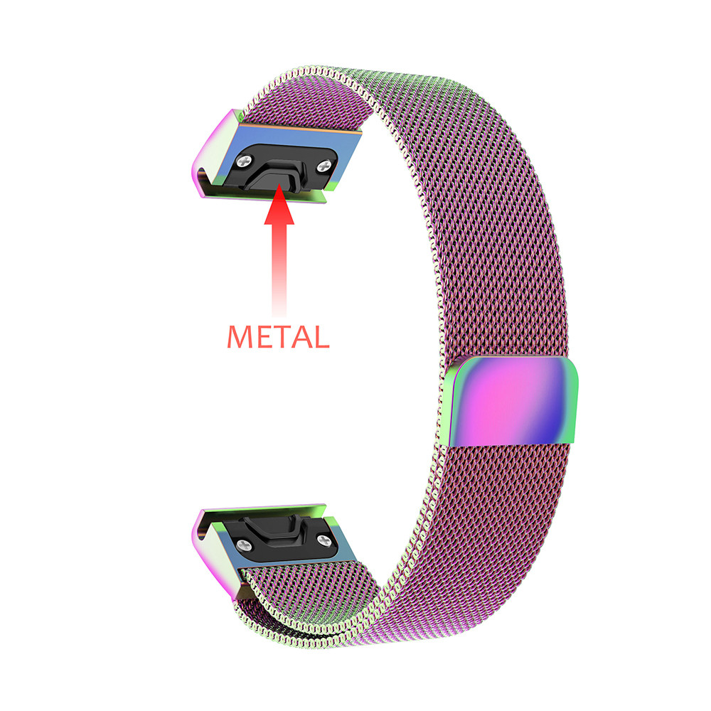 Watch band strap For Garmin Fenix 5X 5X Plus Stainless Steel Milanese Loop GPS Bracelet watchband with Quick Release Easy fit in Smart Accessories from Consumer Electronics