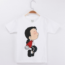 Michael Jackson T shirts For Kids White Shirt Cotton Short Sleeve Children T shirt Baby Boys Clothes Girl Summer Tops Child Tee цена и фото
